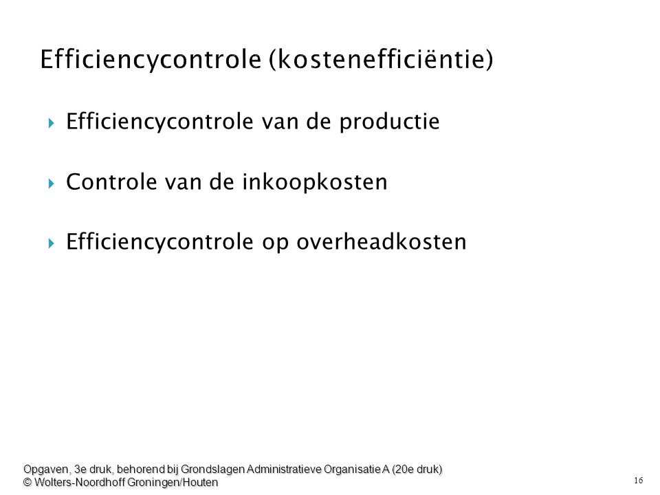 Efficiencycontrole (kostenefficiëntie)