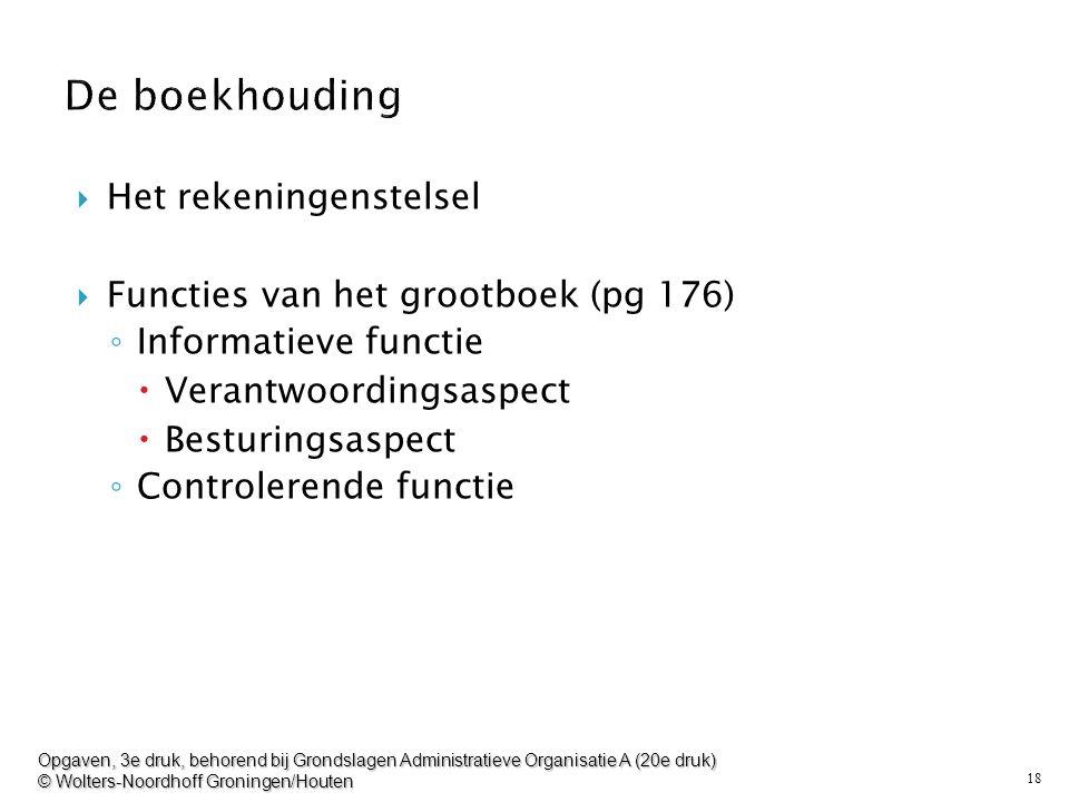 De boekhouding Het rekeningenstelsel