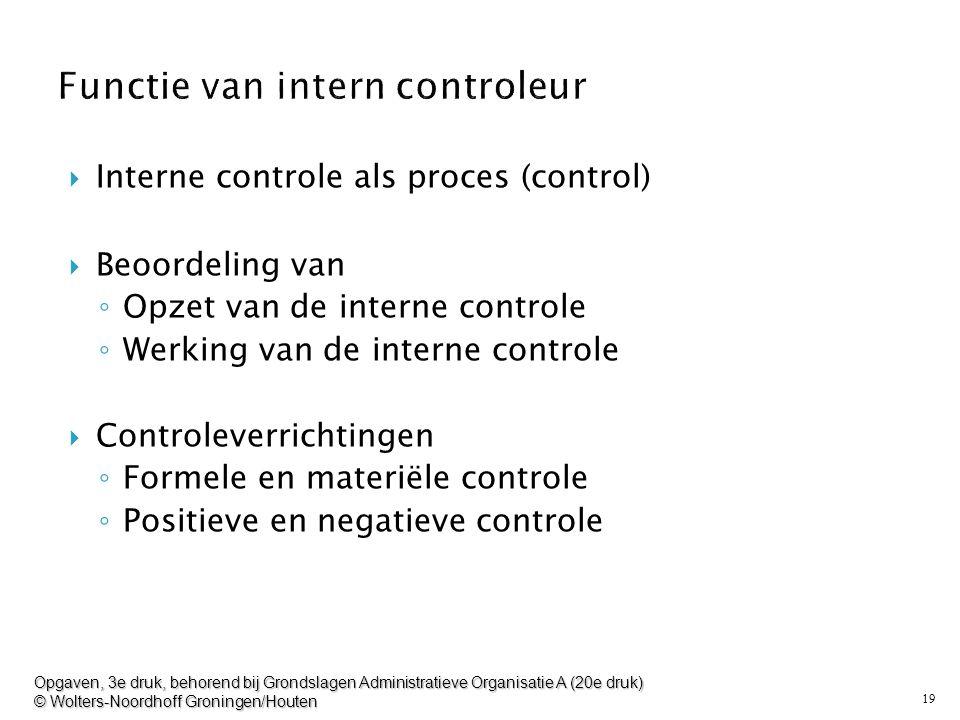 Functie van intern controleur