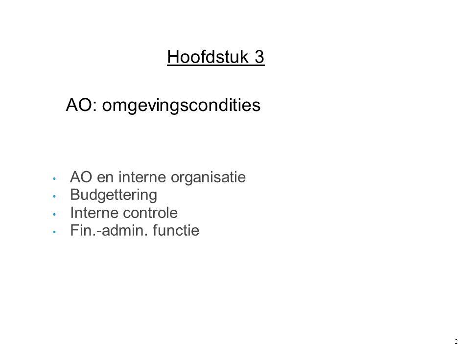 AO: omgevingscondities