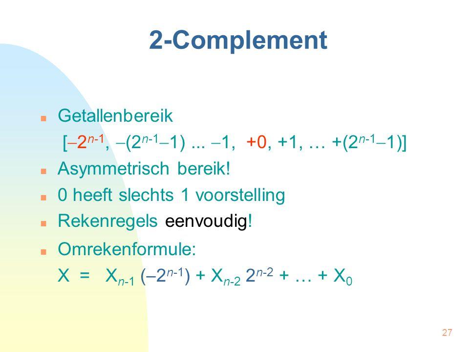 2-Complement Getallenbereik