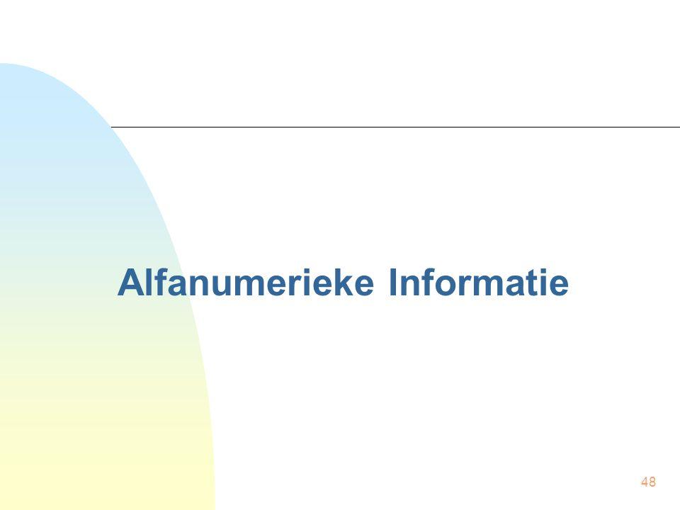 Alfanumerieke Informatie
