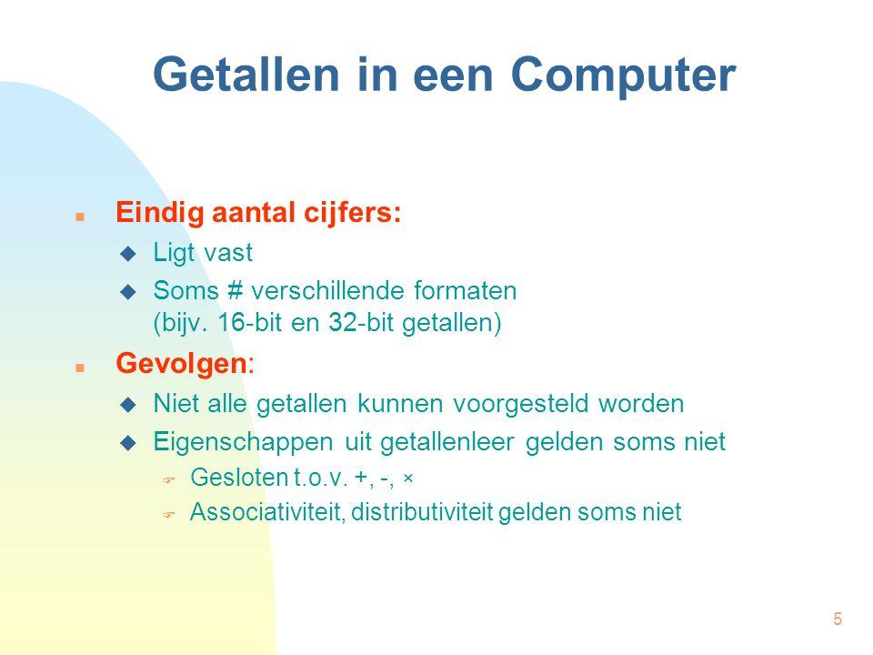 Getallen in een Computer
