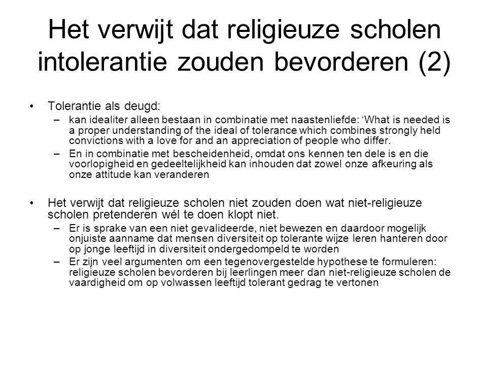 Het verwijt dat religieuze scholen intolerantie zouden bevorderen (2)