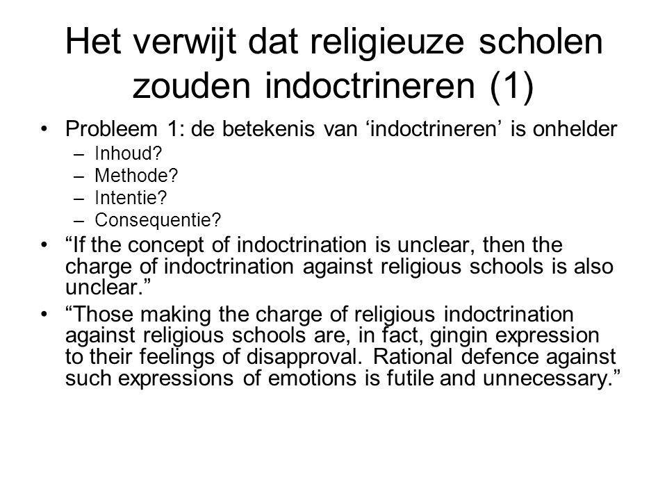 Het verwijt dat religieuze scholen zouden indoctrineren (1)