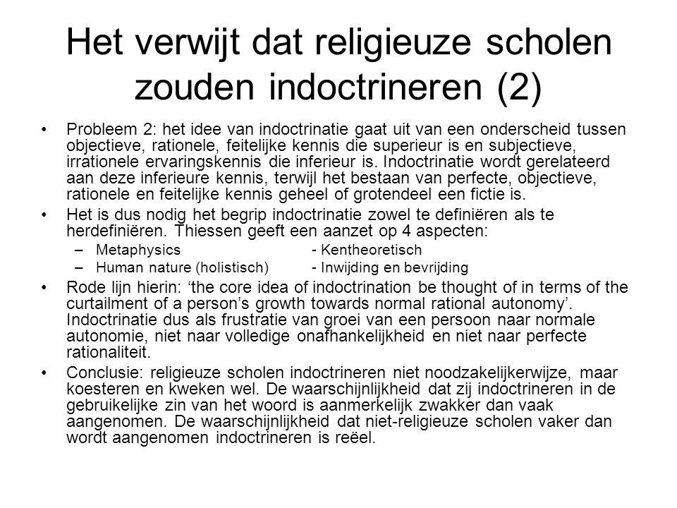 Het verwijt dat religieuze scholen zouden indoctrineren (2)