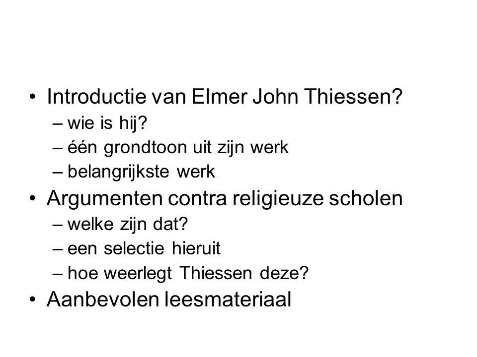 Introductie van Elmer John Thiessen