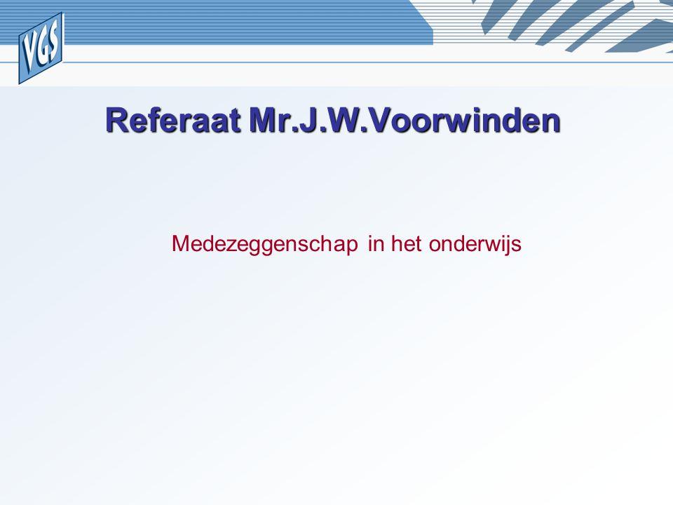 Referaat Mr.J.W.Voorwinden