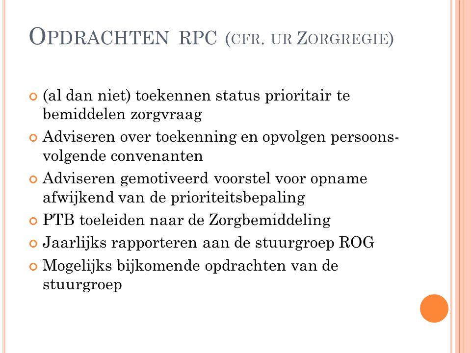 Opdrachten rpc (cfr. ur Zorgregie)