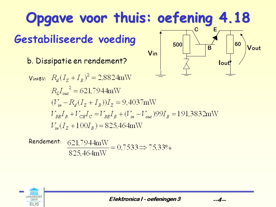 Opgave voor thuis: oefening 4.18