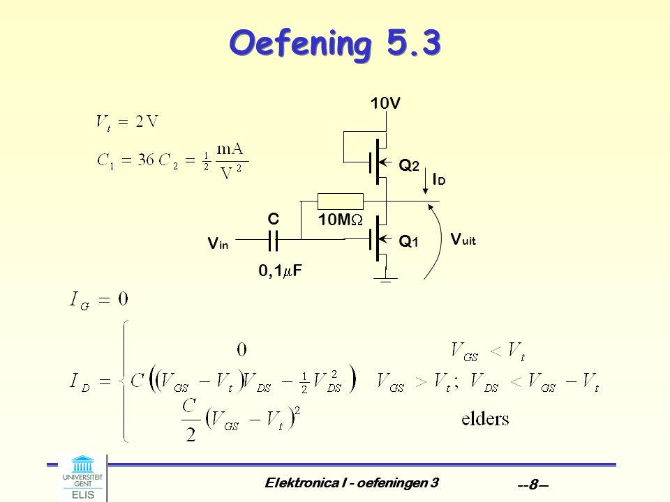 Elektronica I - oefeningen 3