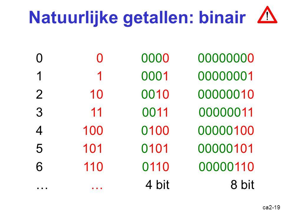 Natuurlijke getallen: binair