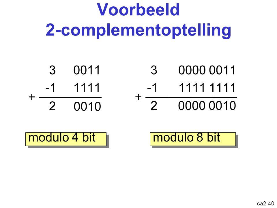 Voorbeeld 2-complementoptelling