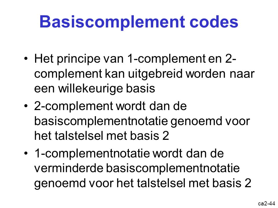 Basiscomplement codes