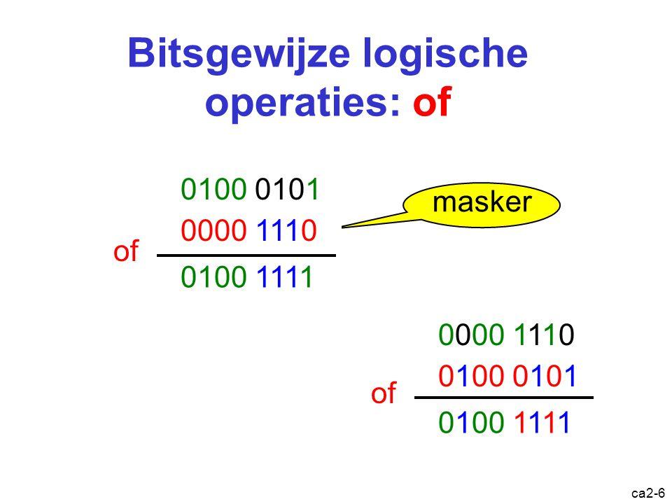 Bitsgewijze logische operaties: of