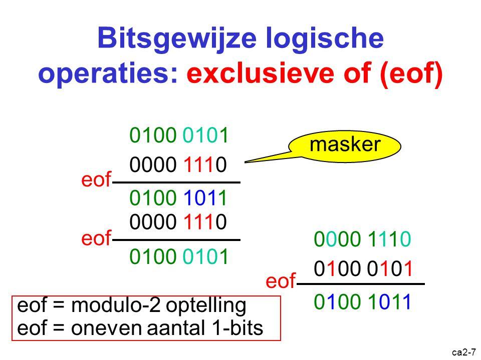 Bitsgewijze logische operaties: exclusieve of (eof)