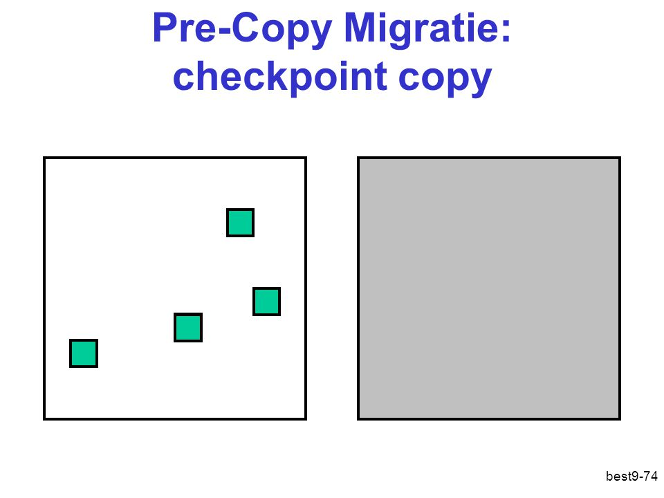 Pre-Copy Migratie: checkpoint copy
