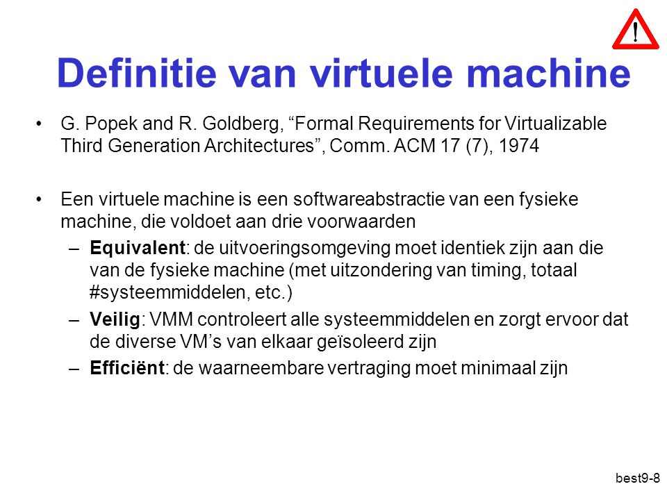 Definitie van virtuele machine