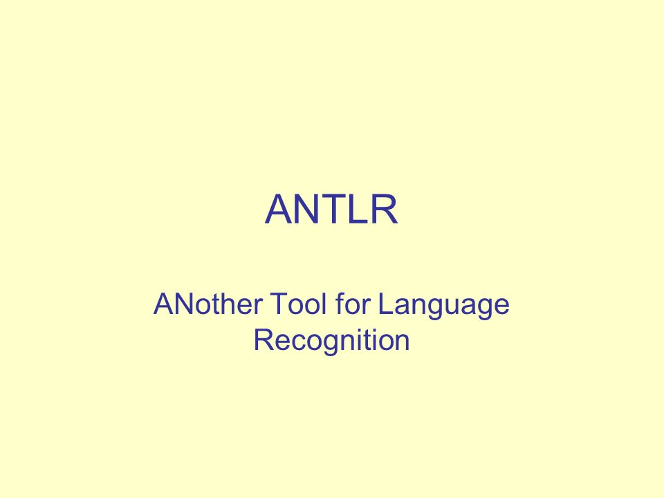 ANother Tool for Language Recognition
