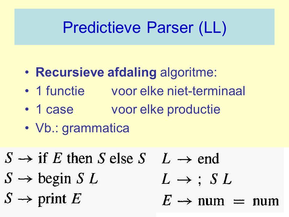 Predictieve Parser (LL)