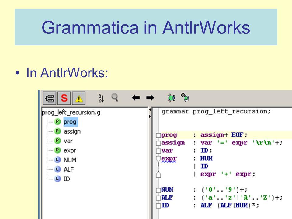 Grammatica in AntlrWorks