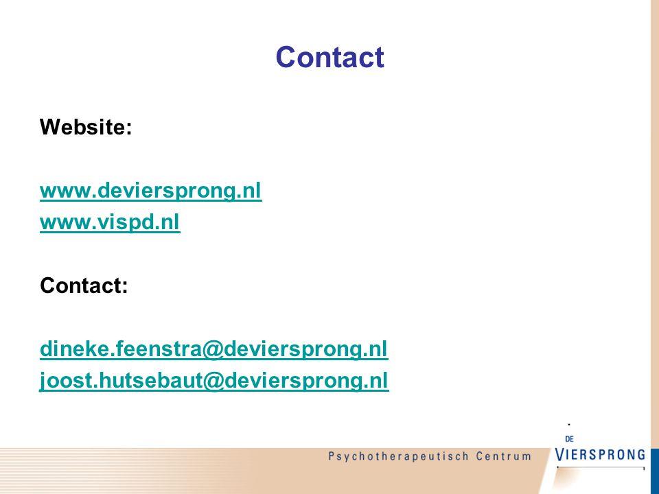 Contact Website: www.deviersprong.nl www.vispd.nl Contact: