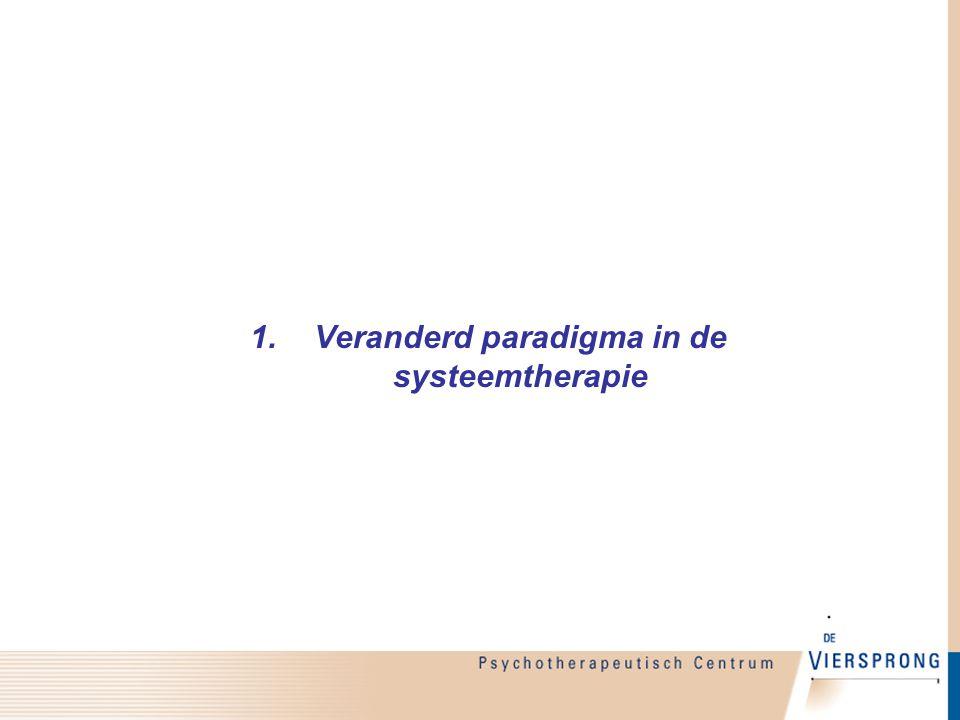 Veranderd paradigma in de systeemtherapie