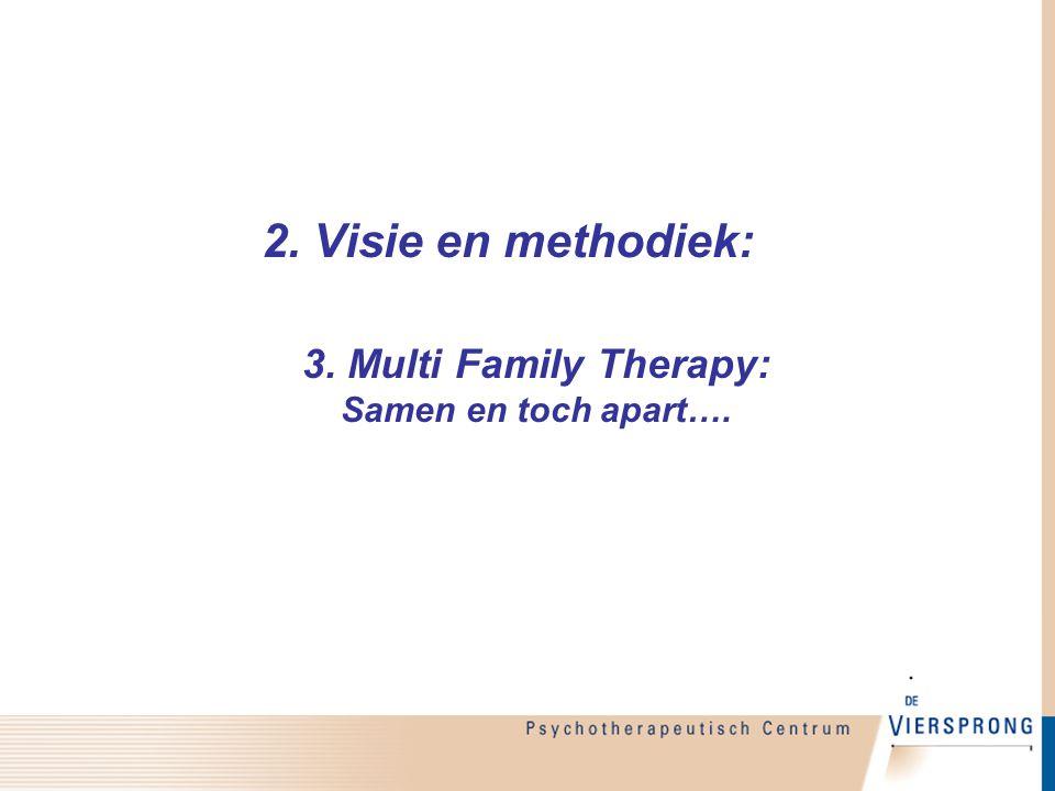 3. Multi Family Therapy: Samen en toch apart….
