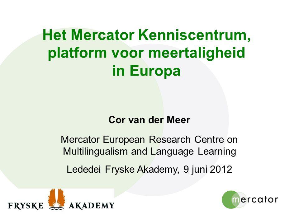 Het Mercator Kenniscentrum, platform voor meertaligheid in Europa