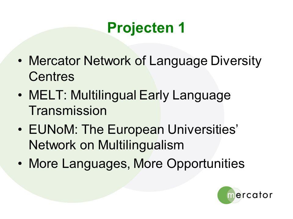 Projecten 1 Mercator Network of Language Diversity Centres