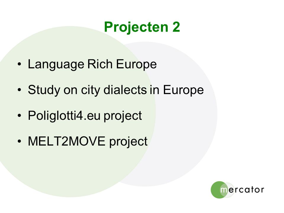 Projecten 2 Language Rich Europe Study on city dialects in Europe