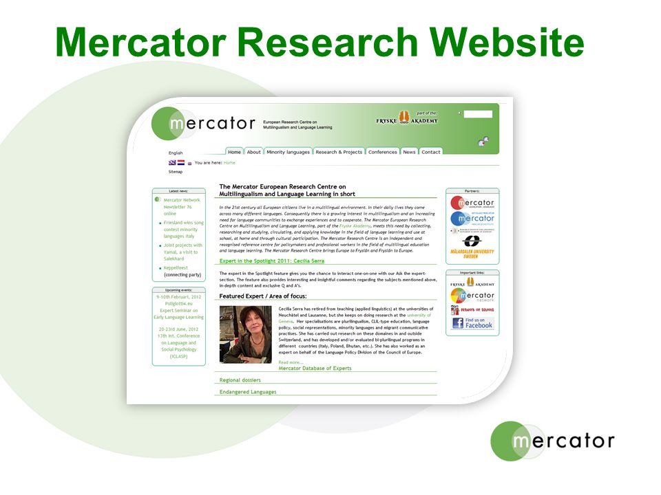 Mercator Research Website