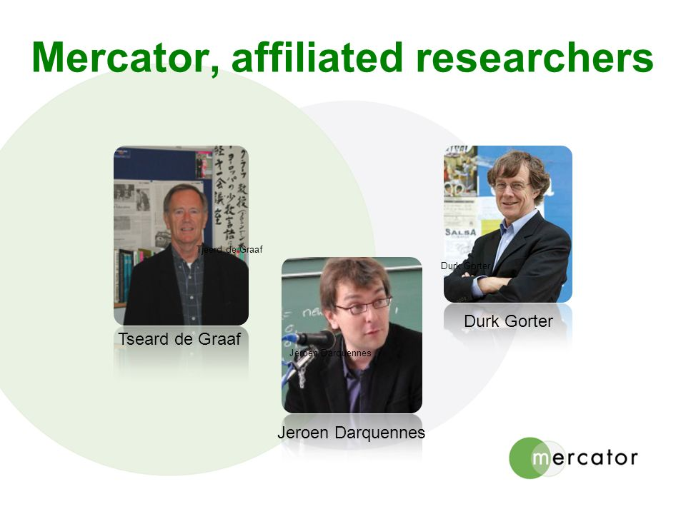 Mercator, affiliated researchers