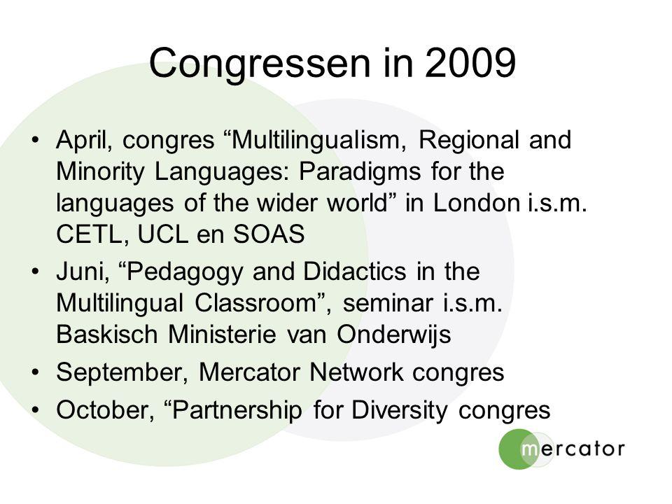 Congressen in 2009