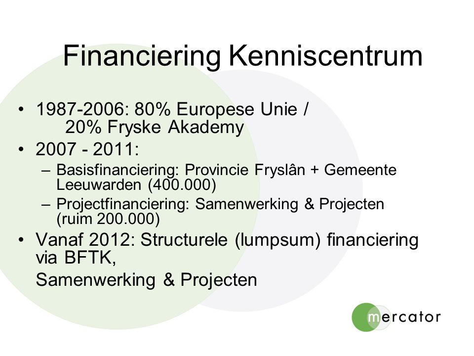 Financiering Kenniscentrum