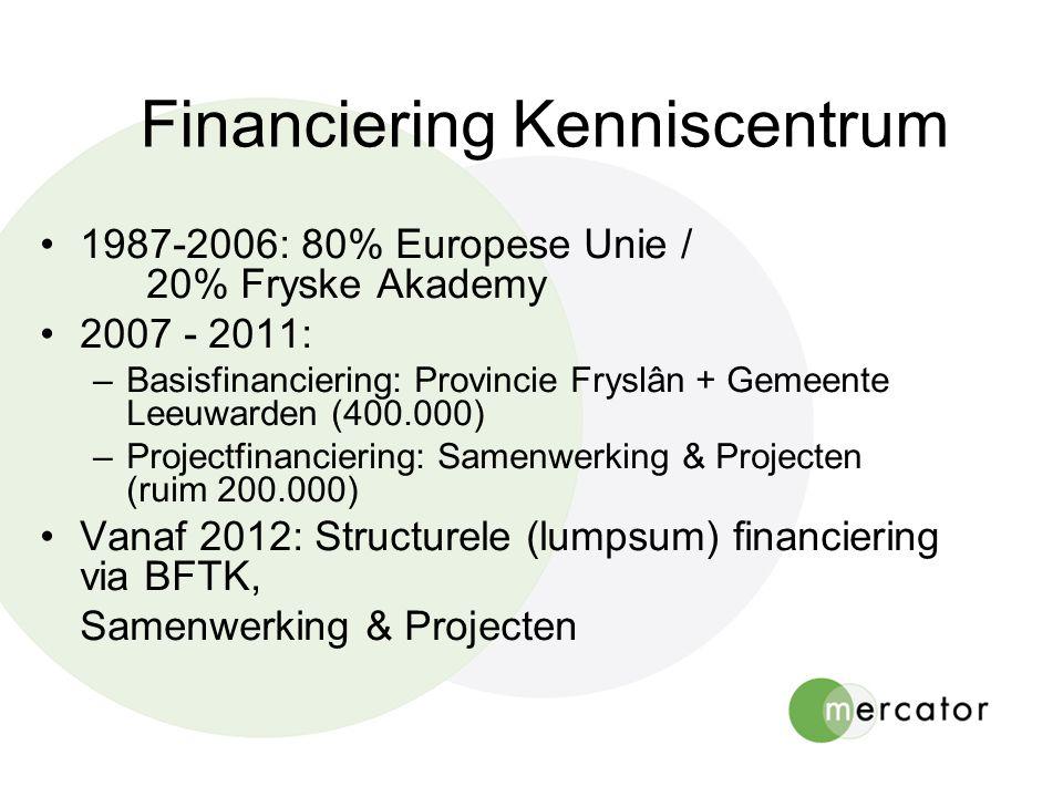 Financiering Kenniscentrum