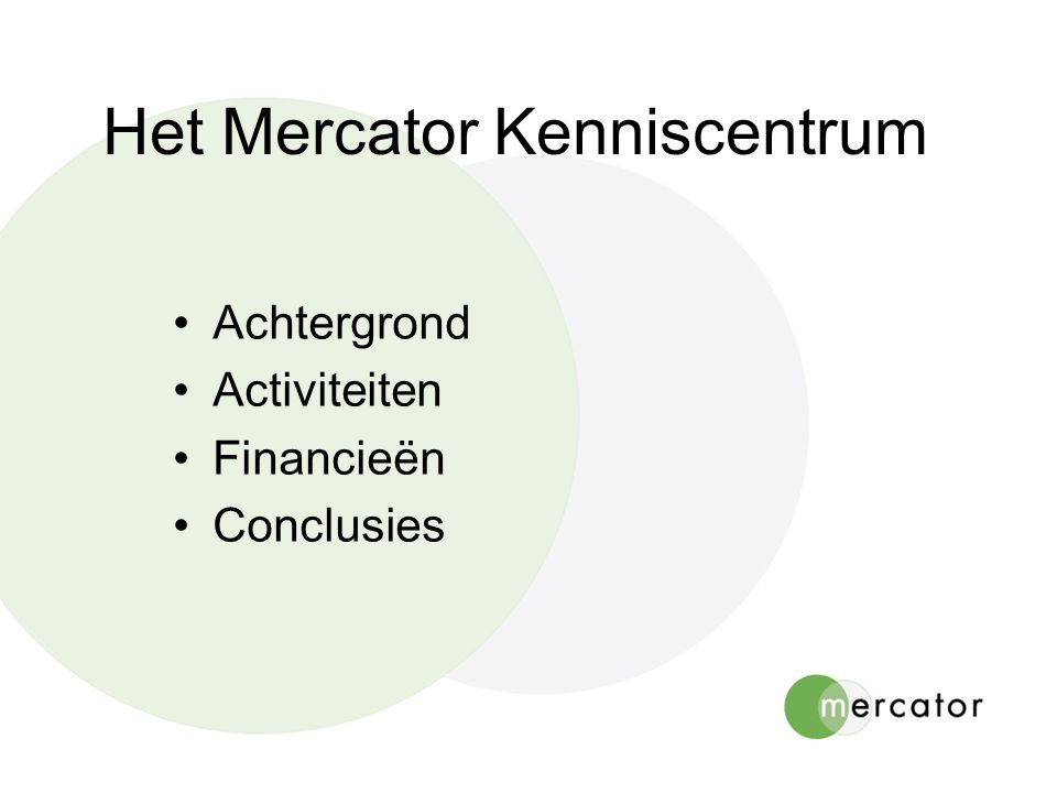 Het Mercator Kenniscentrum