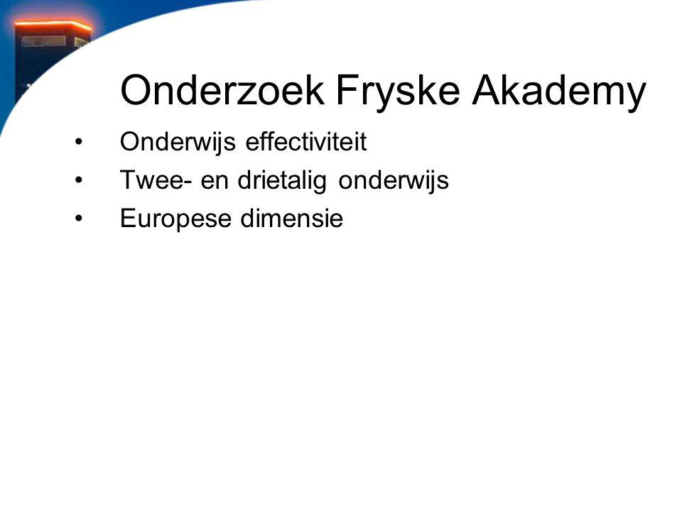 Onderzoek Fryske Akademy