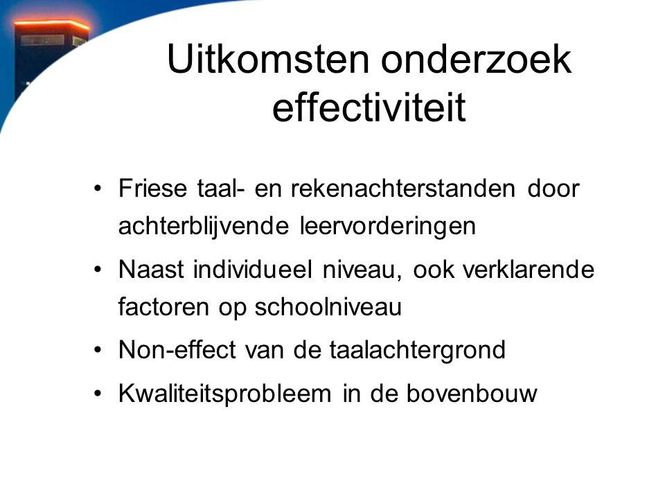 Uitkomsten onderzoek effectiviteit