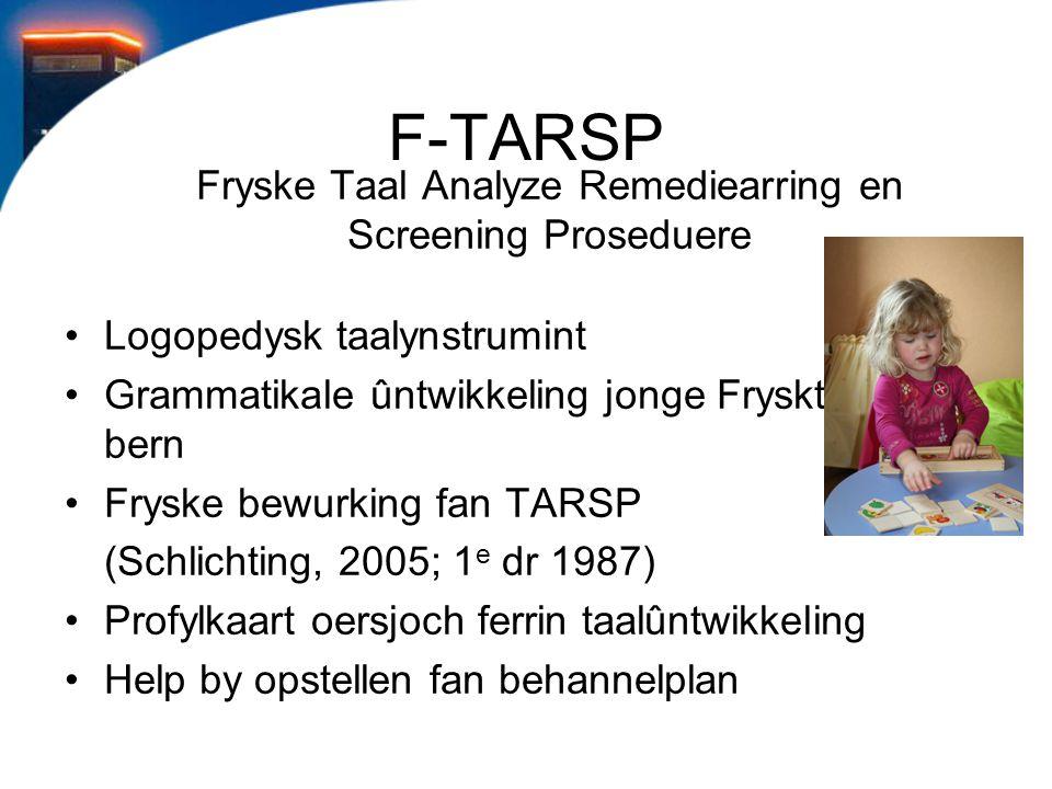 Fryske Taal Analyze Remediearring en Screening Proseduere