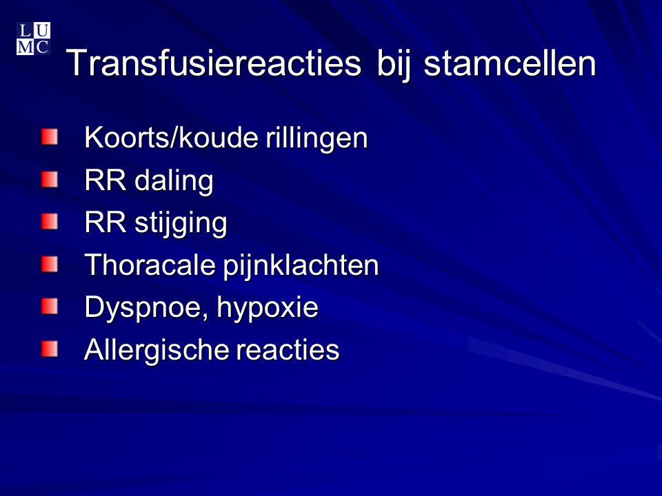 Transfusiereacties bij stamcellen