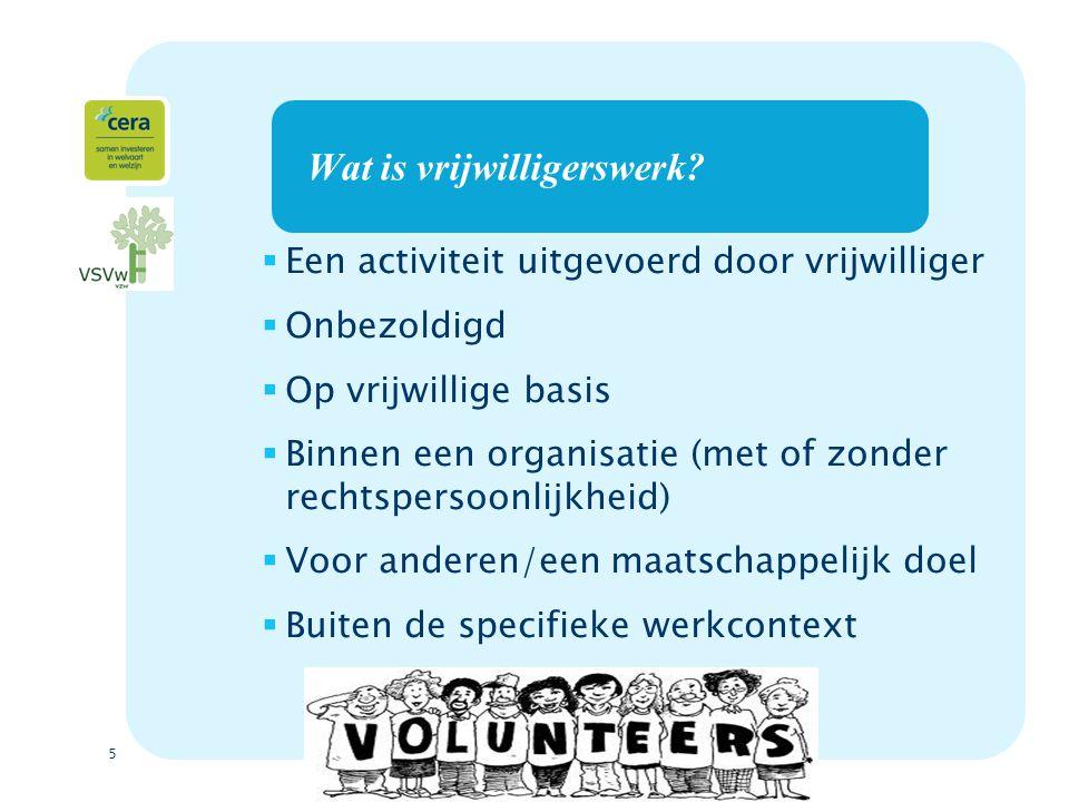 Wat is vrijwilligerswerk