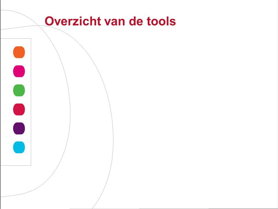 Overzicht van de tools