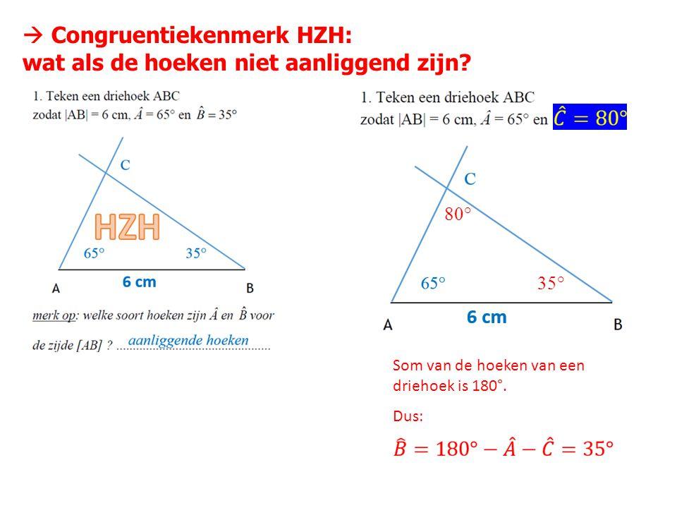  Congruentiekenmerk HZH: wat als de hoeken niet aanliggend zijn