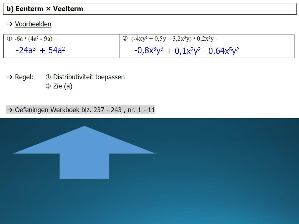 -24a3 + 54a2 -0,8x3y3 + 0,1x2y2 - 0,64x5y2