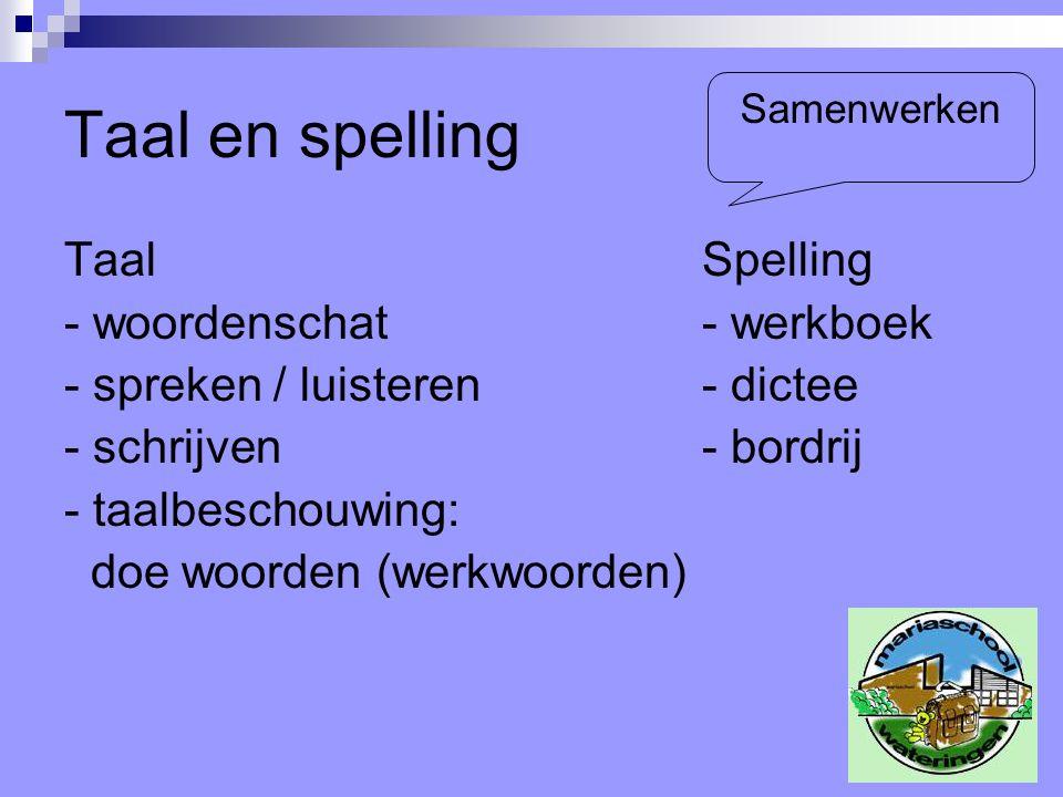 Taal en spelling Taal Spelling - woordenschat - werkboek