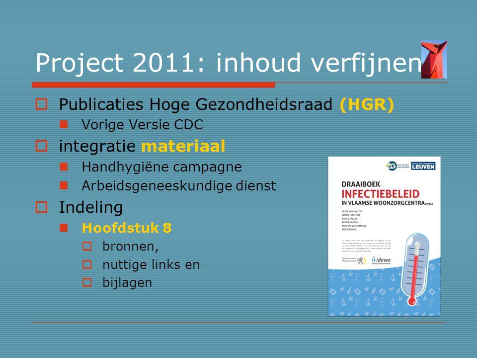 Project 2011: inhoud verfijnen