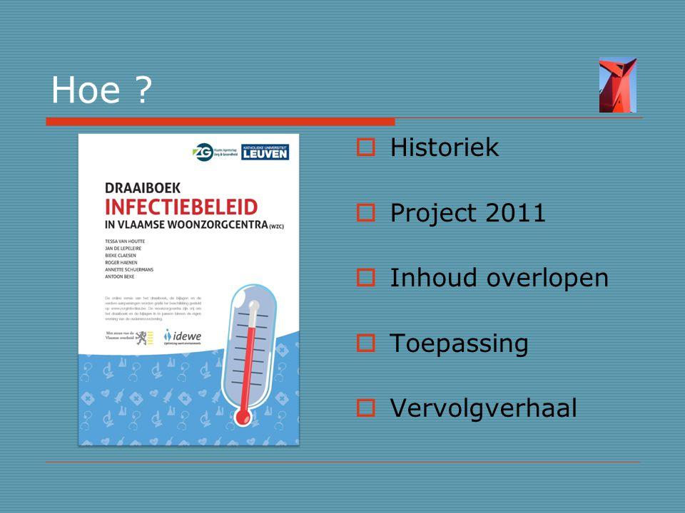 Hoe Historiek Project 2011 Inhoud overlopen Toepassing