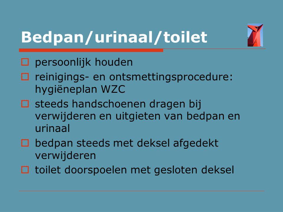 Bedpan/urinaal/toilet