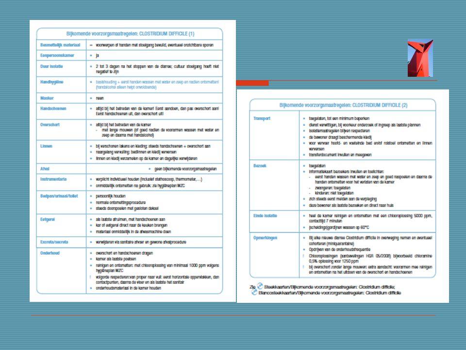 Wit met blauwe letters= bijkomende voorzorgsmaatregelen